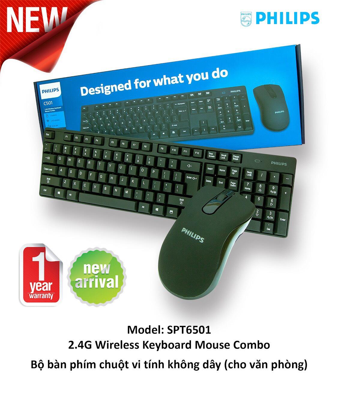 Bàn phím + Chuột Không dây Philips SPT6501